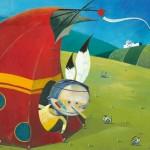 Illustratie/animatie voor kleuterreek 'Circus Hocus Pocus' door Vroum Vroum - © illustrator Steven Van Hasten